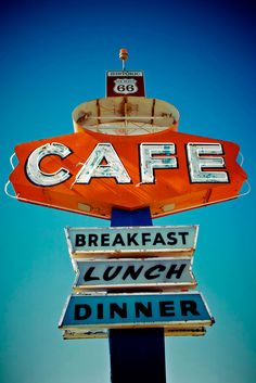 ohpopsi.com : Cafe Sign Along Historic Route 66 In Arizona Vintage Processing 52068640
