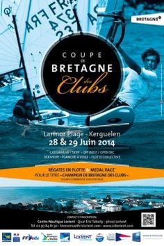 Marque Bretagne - Affiche de la coupe de Bretagne des clubs de voile    Ligue Bretagne de Voile Sport   Affichage 2014