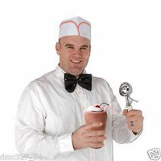 4 Retro 1950s Sock Hop Grease Party Costume Accessory Soda Shop Soda Jerk Hats | eBay