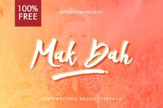 Mak Dah Script is a handwritten typeface with artsy look design and shared by Syaf Rizal. It comes up with uppercase and lowercase letters, etc. Bold Script Font, Cute Fonts, Brand Fonts, Brush Script, Uppercase And Lowercase Letters, Free Fonts Download, Premium Fonts, Lower Case Letters, Lettering