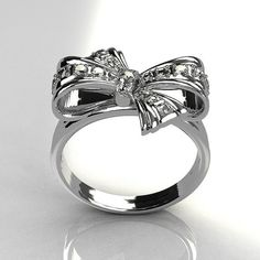 Tiffany's bow ring 3 love this