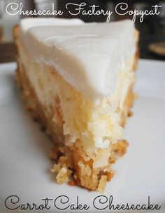 CHERi's Delicious Delectable Divine Recipes: Carrot Cheesecake from Cheesecake Factory-A Copy Cat RECIPE