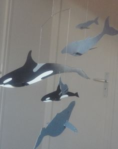 Little Red Farm: Mother and baby whales mobile