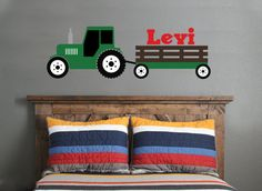 Hey, I found this really awesome Etsy listing at https://www.etsy.com/listing/232513076/tractor-wall-decal-green-tractor-wall