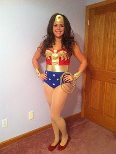 Homemade Wonder Woman halloween costume! #halloween #costume #diy