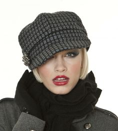 Ladies Fashion Baker Boy Hat by The Hat Company