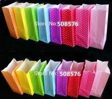 23 x 12 x 7.5 cm stand up colorful / solide cadeau sacs en papier 100 pcs par lot avec prix de gros fournisseur chinois(China (Mainland))