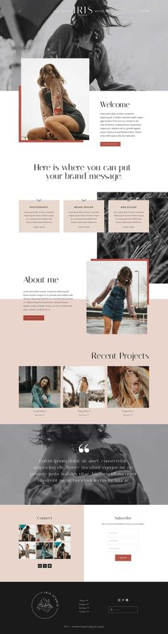 Iris Squarespace Template The Iris Squarespace Template Kit is an edgy and beautiful website design kit with full width background images, parallax scrolling and unique overlapping text and wide image sections. Flat Web Design, Minimal Web Design, Web Design Trends, Site Web Design, Web Design Mobile, Diy Design, Website Designs, Creative Web Design, Website Ideas