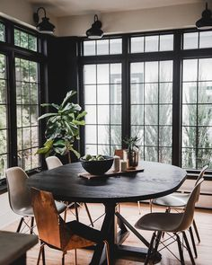 Prospect Refuge Studio, is an award-winning interior design firm located in the Minneapolis/St. Four Season Sunroom, Moore House, Dining Room, Dining Table, Window Wall, Room Inspiration, Design Inspiration, Room Decor, House Design