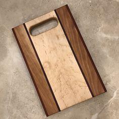 ".75"" Thick Symmetrical Birdseye Maple Cutting Board with Handle"
