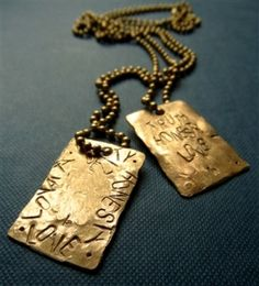 Made from 100% recycled brass, 'After the Storm' men's necklace