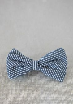 Pinstripe Baby Bowtie By Fore!! Axel & Hudson  (Bowties are cool)