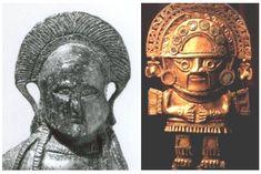 Οι πρόγονοι μας είχαν ανακαλύψει το Περού πριν από το 1600 π.Χ και υπήρχαν οι πρώτες Ελληνικές αποικίες. Greek History, Ancient Mysteries, Ancient Aliens, Ancient Greece, Buddha, Mystery, Statue, Bitterness, Art
