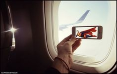 Movie Scenes Inserted into Everyday Life Using an iPhone and Strategic Placement [PHOTOS] Superman, Fiction, Perfect Movie, Geek Art, Photo Projects, Iphone Photography, Life Photo, Creative Photos, New Hobbies