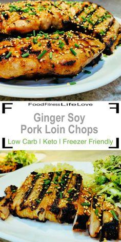 Boneless Pork Chop Marinade, Grilled Pork Loin Chops, Boneless Pork Loin Recipes, Pork Sirloin Chops, Boneless Pork Loin Chops, Pork Rib Recipes, Pork Tenderloin Recipes, Dash Diet Recipes, Ww Recipes
