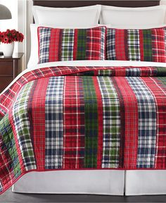 Martha Stewart Collection Catskill Plaid Quilts - Quilts & Bedspreads - Bed & Bath - Macy's