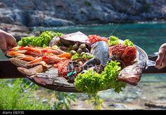 Fresh seafood platter.