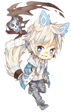 I wish I can have a chibi pet like this IRL. ?(???)??