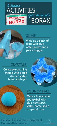 Wondering what to do with a box of Borax laundry detergent? These 3 Borax science activities are ones you will enjoy way better than washing your clothes. Borax Experiments, Toddler Science Experiments, Easy Science, Science Fair Projects, Preschool Science, Science For Kids, Science Activities, Science Ideas, Activity Ideas