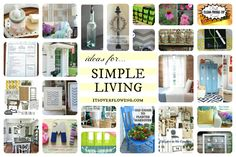 Ideas for Simple Living (click the pic to see these awesome ideas) decorating tips and organizing tips Diy Home Crafts, Homemade Crafts, Fun Crafts, Diy Home Decor, Decor Crafts, Organization Hacks, Organizing Tips, Simple Living, Getting Organized