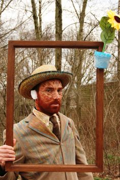 Our version of the Van Gogh costume I spotted on Pinterest :-)