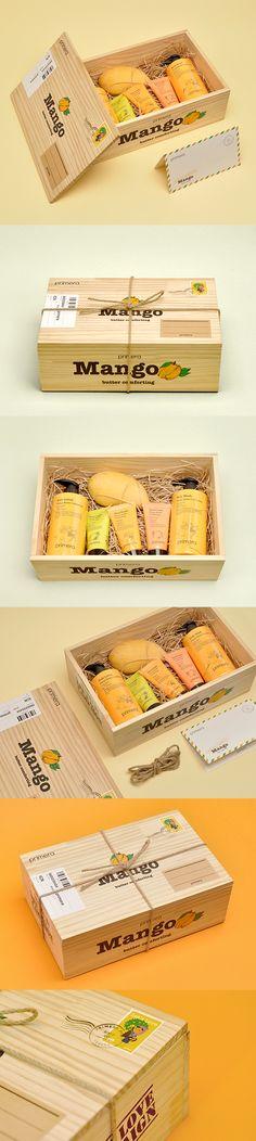 PRIMERA-MANGO BUTTER COMFORTING PRESS KIT cosmetics packaging design