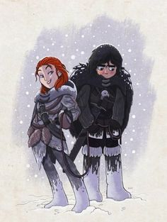 Jon and Ygritte Art Game Of Thrones, Dessin Game Of Thrones, Jon Snow E Ygritte, Geeks, John Snow, Game Of Trones, Movies And Series, Book Series, Kings Game
