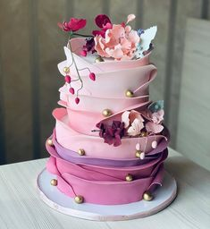Discover recipes, home ideas, style inspiration and other ideas to try. Girly Birthday Cakes, Elegant Birthday Cakes, Beautiful Birthday Cakes, Beautiful Cake Designs, Beautiful Cakes, Amazing Cakes, Pretty Cakes, Cute Cakes, Crazy Cakes