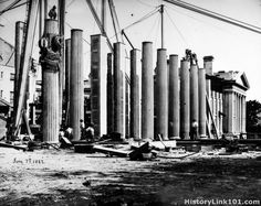Construction of the Department of the Treasury, 1862