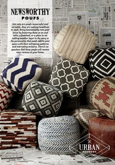 Poufs - Urban Foundry™ - Furniture and Accessories - Ashley Furniture - #AshleyFurniture - #Poufs #Urban