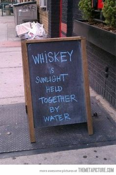 The Truth About Whiskey… and that's why it burns
