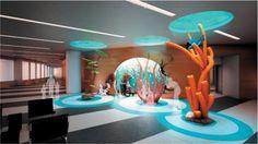 pediatric hospital design - Google Search - turquoise & orange