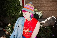 "ISABEL HENDRIX: Psychedelic Weirdo http://www.isabelhendrix.com/2015/04/psychedelic-weirdo.html?utm_content=buffere719a&utm_medium=social&utm_source=pinterest.com&utm_campaign=buffer ""All of the beanies that Yo Banana Boy handknits are super cute; fruit style ones, multicolor striped ones, cute patterned ones.. and she does custom designs too! SO GOOD"""