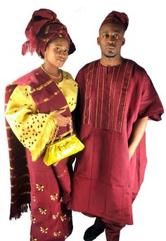 Nigerian (specifically Yoruba) robes - woman's is similar to what Asagai gives Beneatha (except some swirlies to tie along with the spring/spiral motif).  One of few bright colors on set, red makes it stand out more, bold/passionate color as opposed to oppressed life the Younger's have lived.
