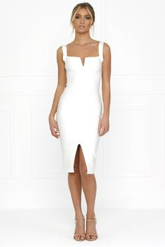 Shop the amazing Honey Couture SONIA White Thick Strap w V Midi Bandage Dress online now, get FREE shipping on all orders over $100 in Australia. Pay via AfterPay & ZipPay. We ship WORLDWIDE! #style #getthelookforless #weshipworldwide #afterpay #honeycouture #aussieboutique #celebfashion #ootd #shopnow #onlinestore #zippay #polipay #celebstyle #australianlabel #fashion goo.gl/1DvsR5