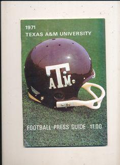 1971 Texas A&M Football Press Media Guide | eBay