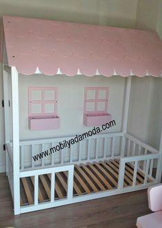Toddler Floor Bed Frame, Diy Toddler Bed, Baby Bedroom, Girls Bedroom, Montessori Bedroom, Cubby Houses, Rainbow Room, Studio Apartment Decorating, Little Girl Rooms