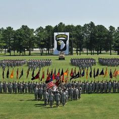 70th Birthday of 101st Airborne Division (Air Assault).  Division Parade Field at Ft. Campbell KY...our third and seventh hometown!