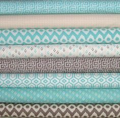 8 Fat Quarters of Cove Collection by Camelot Fabrics. These are high quality designer quilting fabrics cut from the bolt. Each cut is 18x