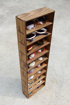 Wall Organizer Sunglasses Glasses 3D Storage Shelf Case Holder Rack. $42.00, via Etsy.