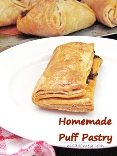 Homemade puff pastry in just 15 minutes, no chilling the dough needed, so easy with my step by step recipes. #puffpastry #puffs