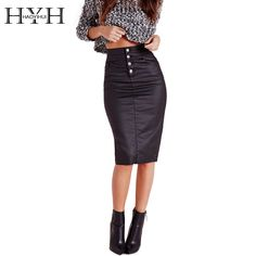 Aliexpress.com : Buy HYH HAOYIHUI 2016 Brand New Summer Fashion Women Casual Office Sexy Ladies High Waist Bodycon Midi Pencil Skirt from Reliable pencil skirt with suspenders suppliers on HAOYIHUI CHIC LADIES