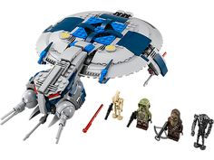 LEGO Star Wars Droid Gunship™ Ages:8-14 -Launch heavy attacks with the LEGO® Star Wars™ Droid Gunship™ with dropping bombs, powerful shooters, opening cockpit, escape pod and more! $49.99