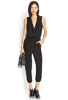 Menswear-Inspired Harem Jumpsuit | LOVE21