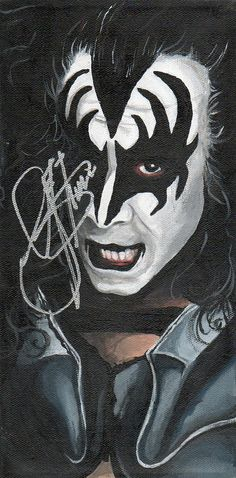 Had time to kill today,did I: do laundry? clean my place? wash my car? pay my bills? Airbrush Gene Simmons in Photoshop on my Wacom tablet and the put a gawdy acid background behind him? BINGO. I r...