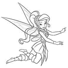 Picture of fairy rosetta in pixie coloring page netart for Coloring pages of pretty fairies