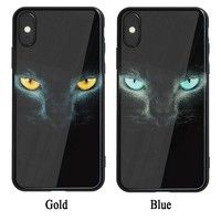 KoopIMD TPU Phone Case Back Cover Cool Blue Eyes  Gold Eyes Pattern For  iPhone 6 6fa06757f8dc