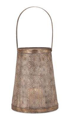 Candlelight Mila Pierced Metal Lantern – Sky Iris #moroccanstyle #lantern