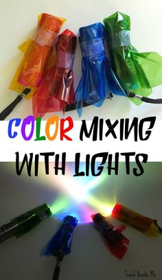 Color Mixing with Lights with a printable worksheet set!