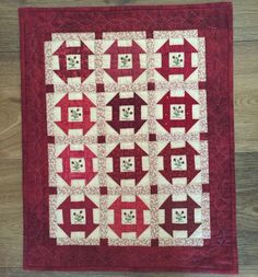 Red Button Quilt Company is a home based quilting pattern and kit business by Emily Hardwig, based in Bemidji, Minnesota. Small Quilts, Mini Quilts, Patch Quilt, Quilt Blocks, Churn Dash Quilt, Two Color Quilts, Red And White Quilts, Civil War Quilts, Shabby Fabrics